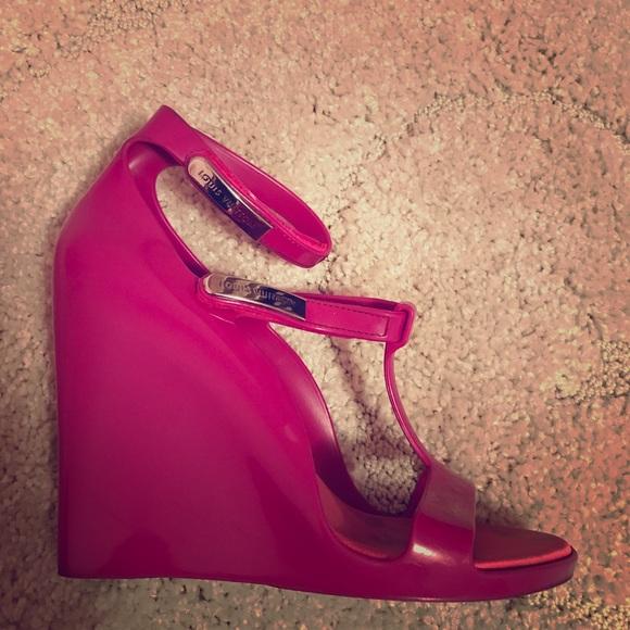031a5b4db02d Louis Vuitton Shoes - 💎100% Authentic Louis Vuitton Jelly Heel Wedges💎